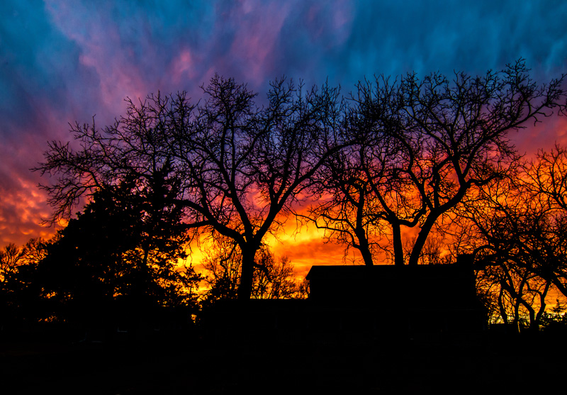 Lindsborg sunset a riot of color
