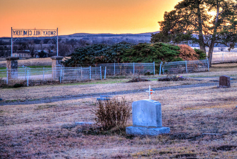 Smoky Hill Cemetery sunset