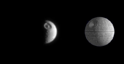 mimas vs the death star