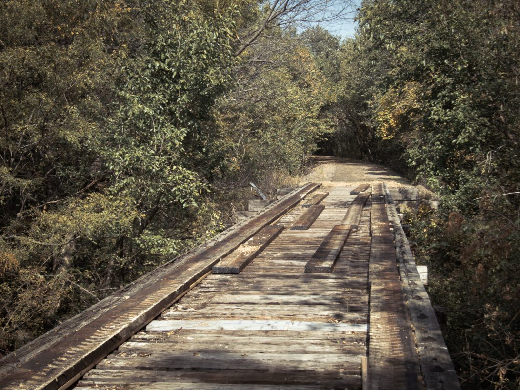 Meadowlark Trail: cool old bridge