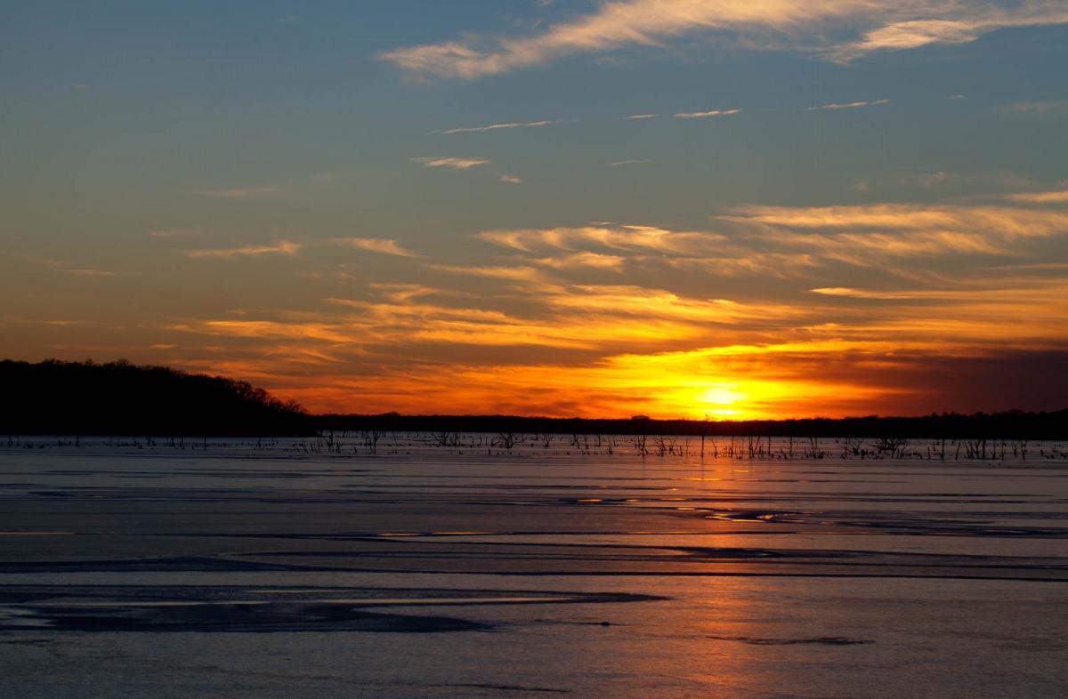 Clinton Lake Sunset