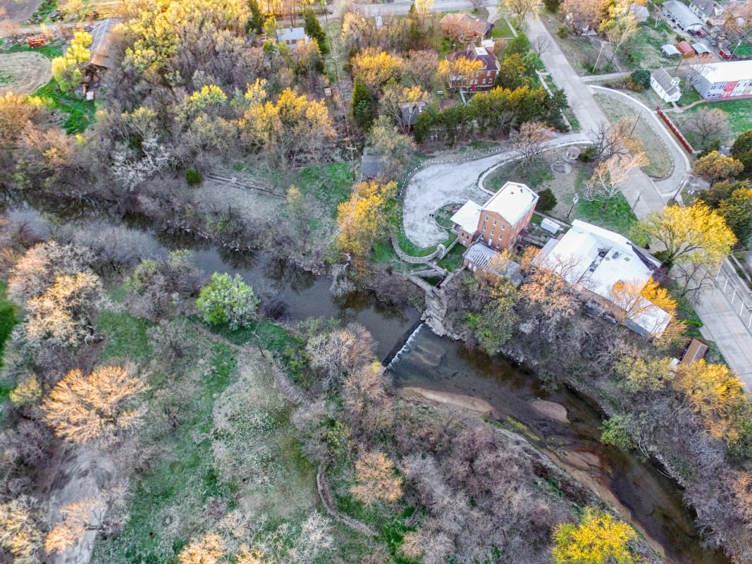 Drone's eye view of the Old Mill
