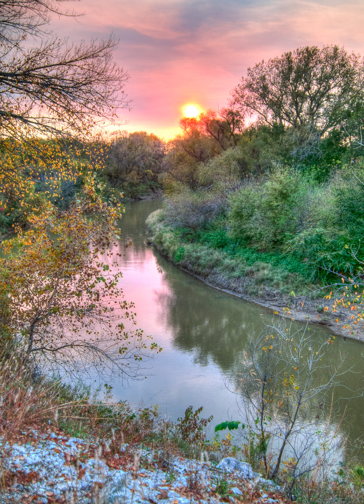 Sunset on the Smoky Hill River