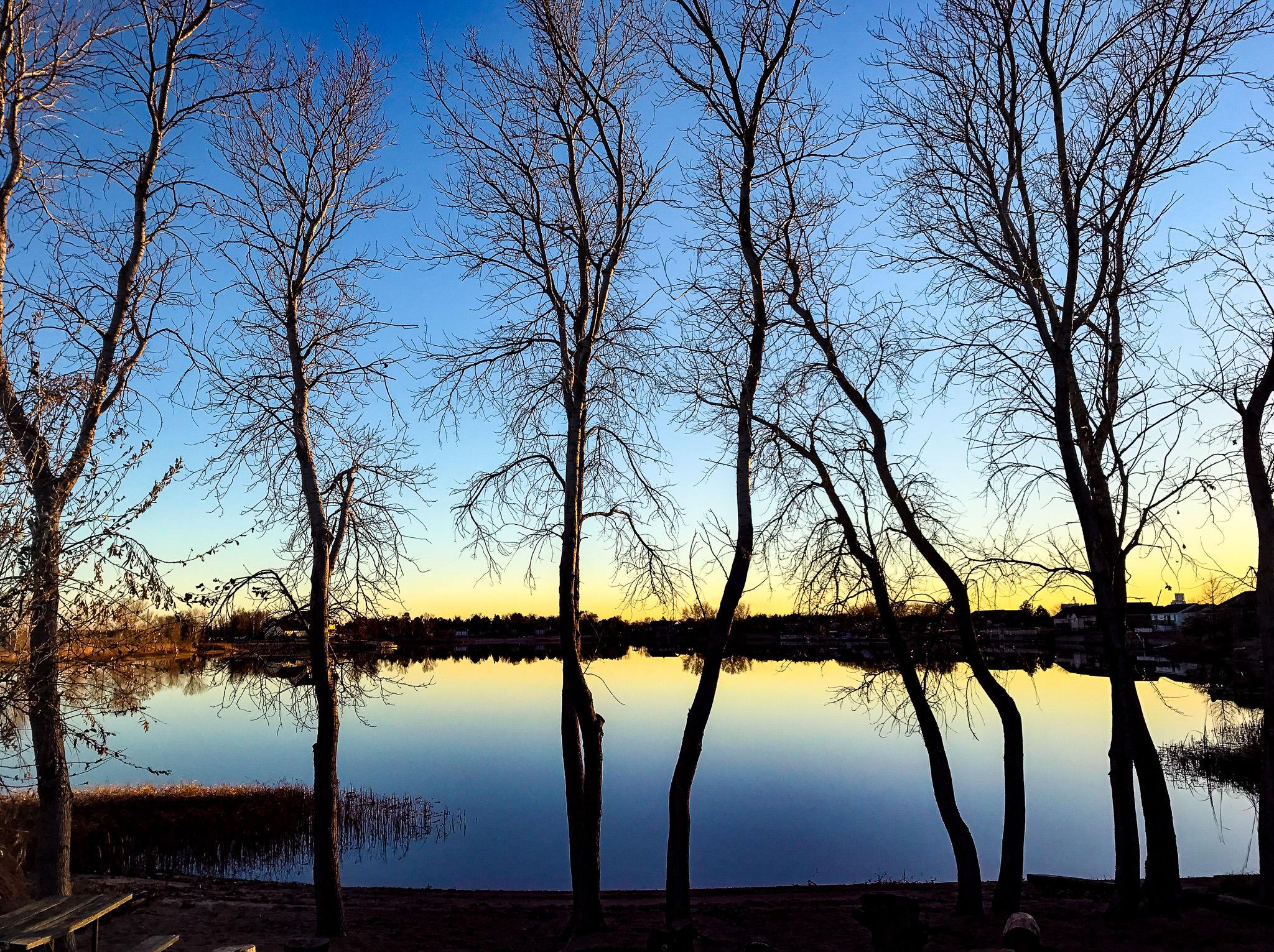 Sunset at Emerald Lake