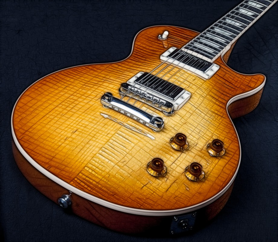 Fractalized Les Paul