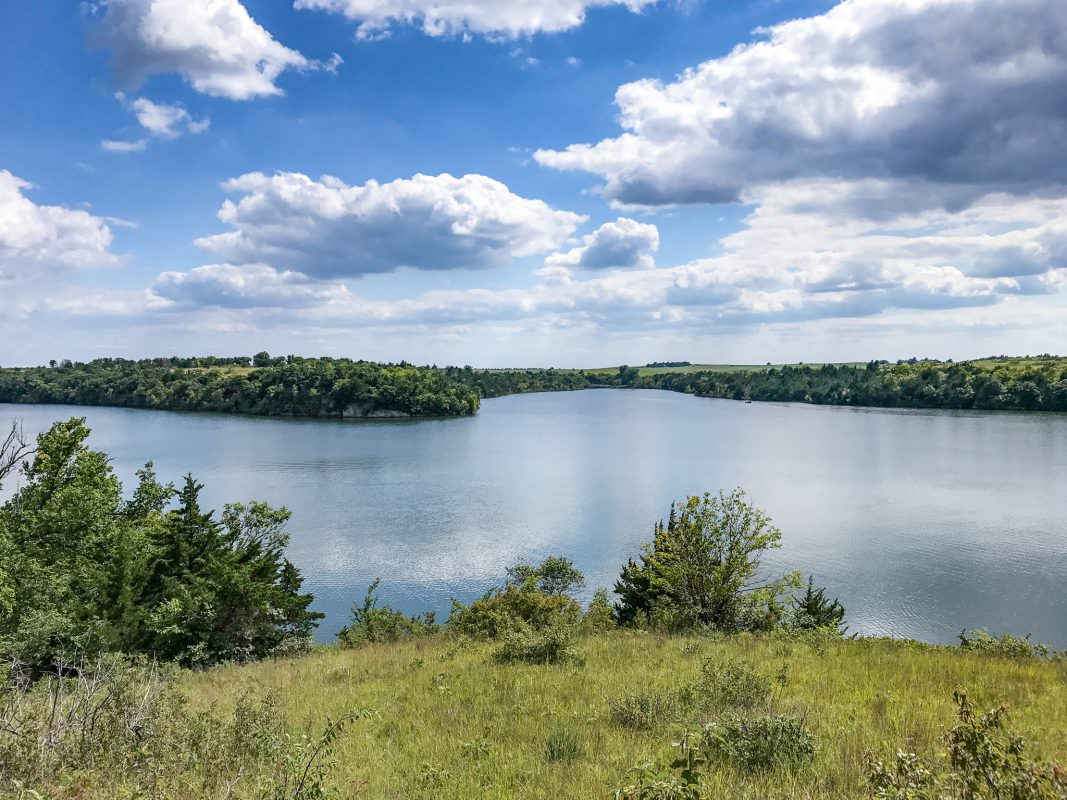 Dam at Geary State Fishing Lake