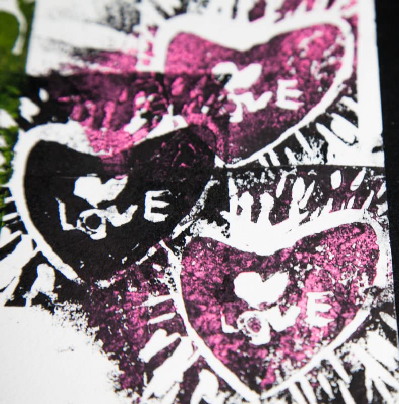 My First Linocuts - Black/Pink!