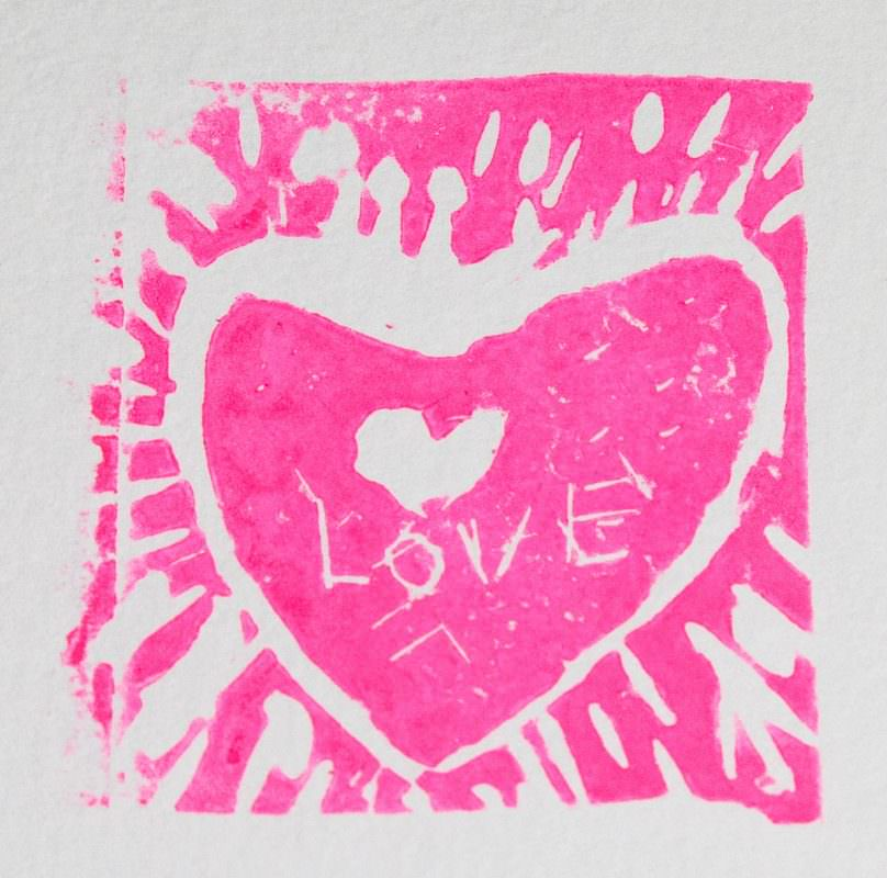 My First Linocuts - Hot Pink!