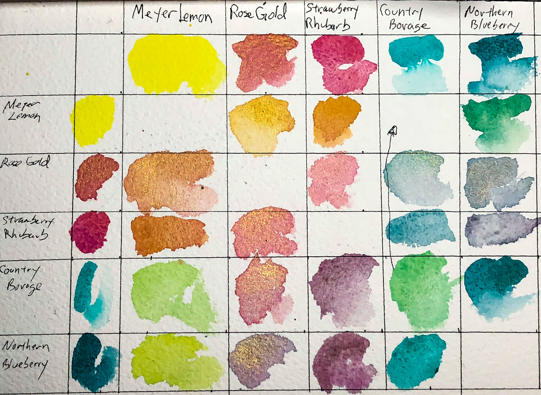 Wild free watercolors all the pages are my days wild free wild free color chart nvjuhfo Images